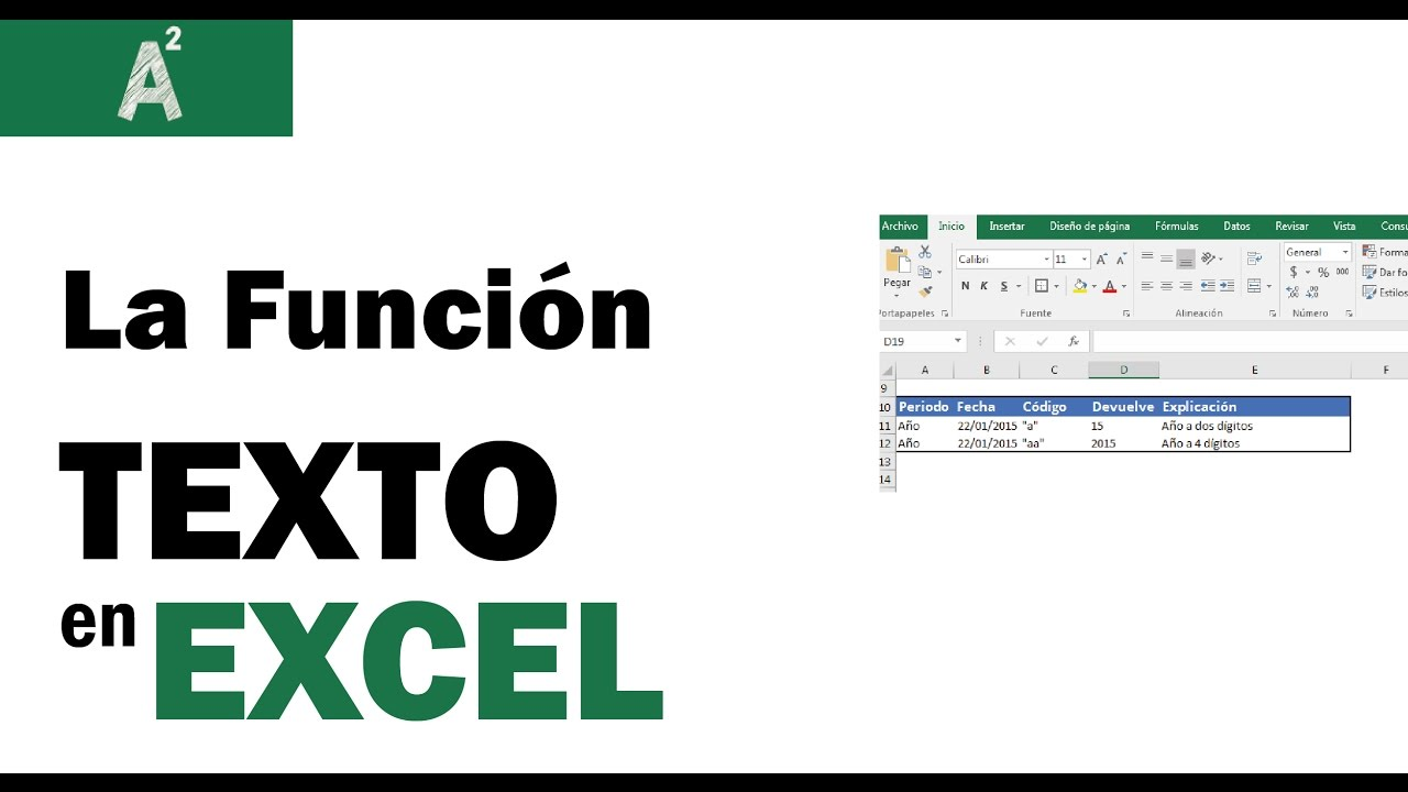 Función Texto en Excel - YouTube