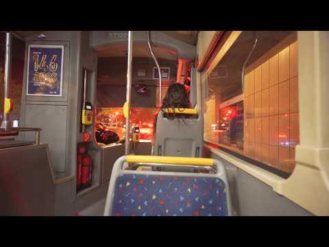 Portugal, Lisbon, Bus 726 Night Ride From Duque D'Ávila To Rua Do Forno Do Tijolo