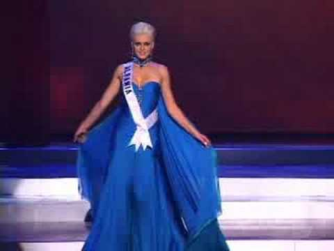 Albania - Miss Universe 2008 Presentation - Evening Gown - YouTube