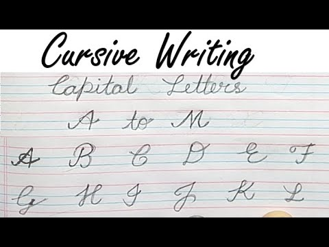 Cursive Writing | Cursive Writing A to Z Capital and Small ...