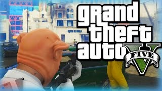 Gta 5 Heists Funny Moments Humane Labs - Heist Piggy, Stealing Insurgents And More!  (part 1)