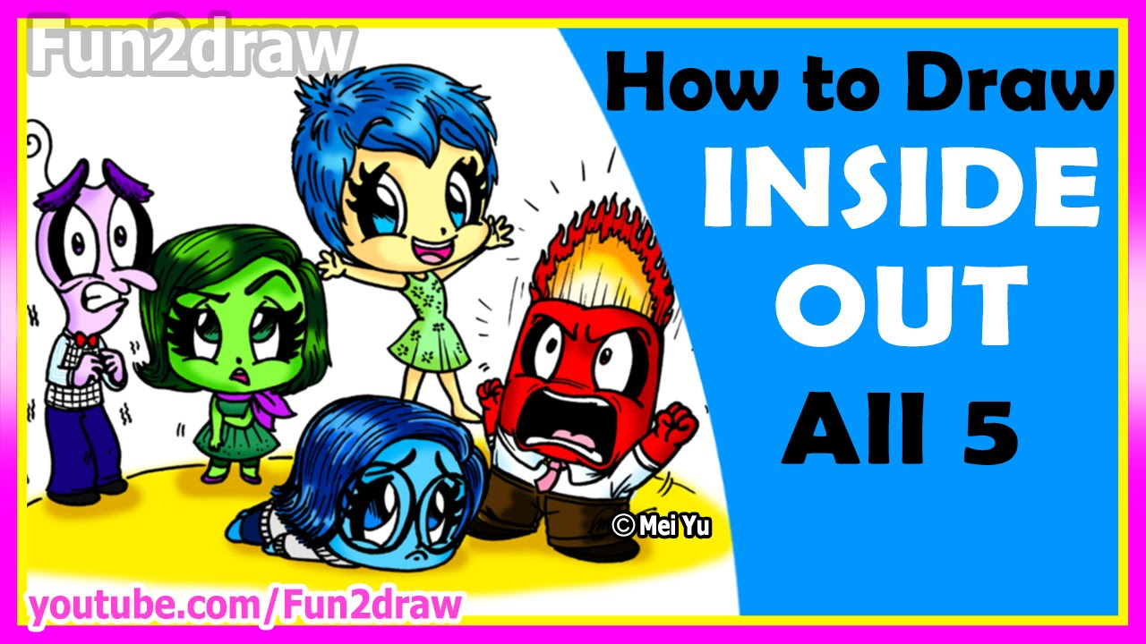 Joy inside out coloring book games - Inside Out Coloring Book Games Amazing How To Draw Inside Out Joy Anger Disgust Sadness