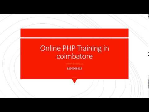 Online PHP Training in coimbatore-etcoe.in