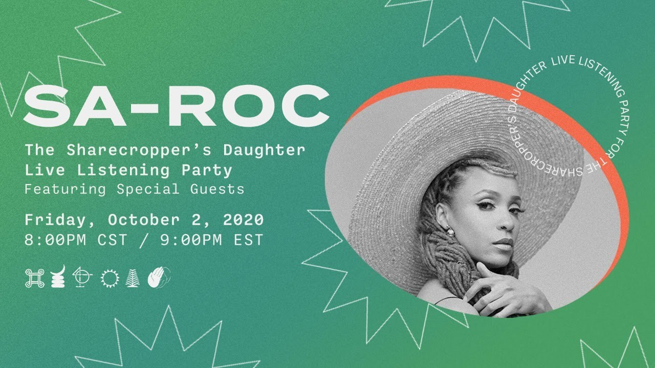 Sa-Roc Live Listening Party for The Sharecropper's Daughter