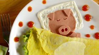 Аппетитная яичница «Свинка» для ребенка! Пошаговый мастер класс