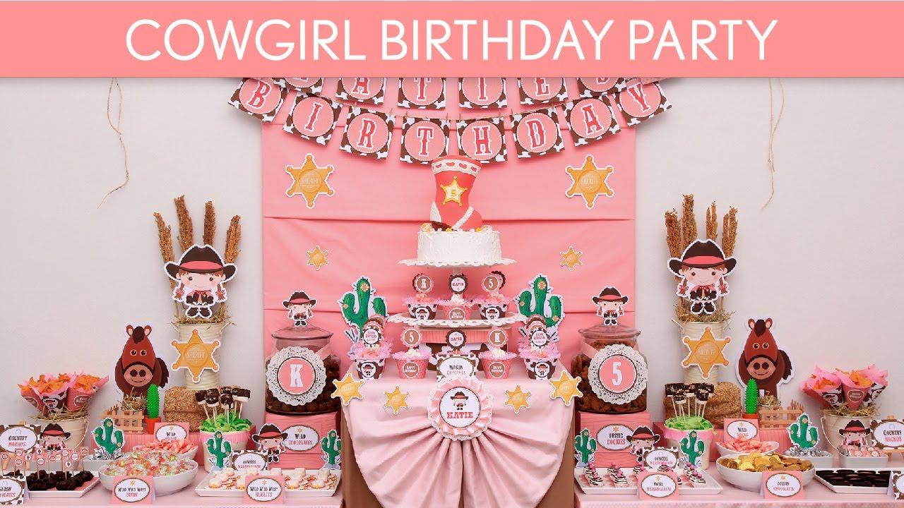 Cowgirl Birthday Party Ideas B12 YouTube