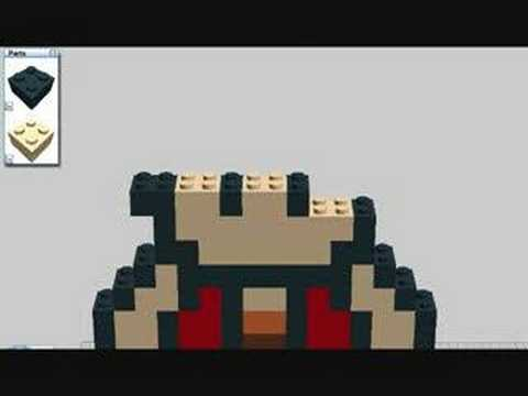 how to make a lego luigi