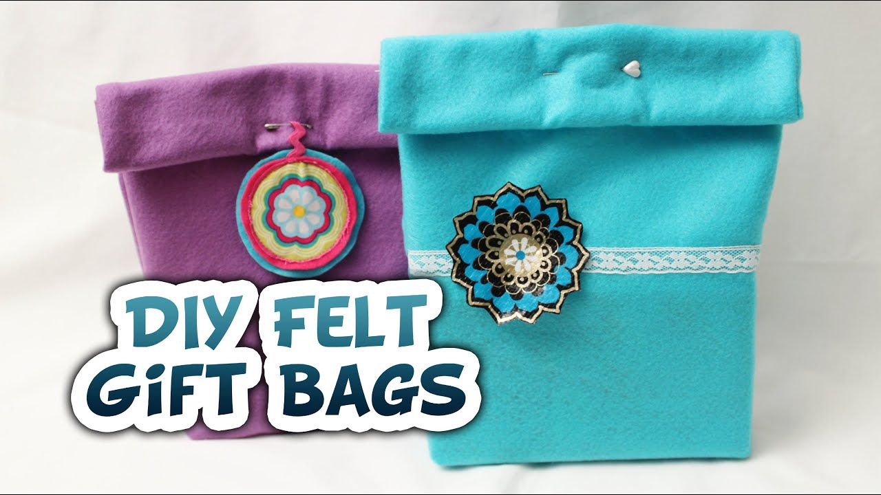 Diy felt gift bags very easy whitney sews youtube negle Image collections