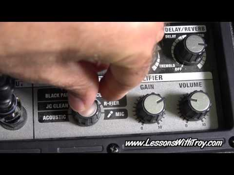 Roland Micro Cube Amp - Gear Review/Demo - Lessons With Troy Podcast #27