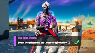 Defeat Glyph Master Raz and Collect the Spire Artifact (1) - Fortnite The Spire Quests