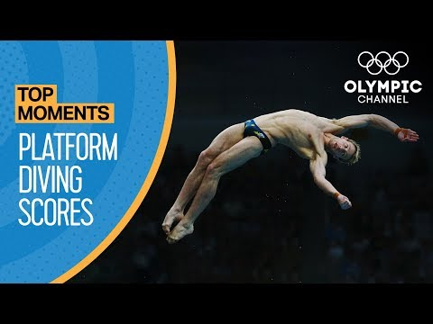 Top 3 Olympic 10M Platform Diving Scores Ever | Top Moments