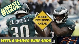 2018 Fantasy Football Advice  - Week 6 Top Waiver Wire Targets