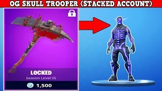 OG SKULL TROOPER & RAIDER'S REVENGE RARE PICKAXE! (STACKED ACCOUNT!) | Fortnite Battle Royale!