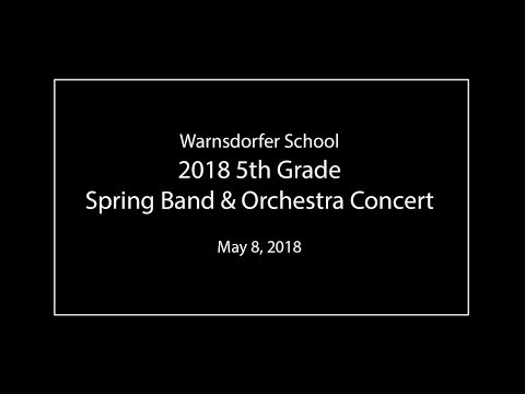 2018 Spring Band and Orchestra Concert of Warnsdorfer Elementary School