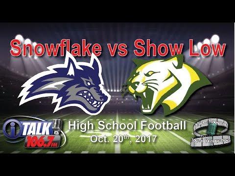 Snowflake vs Show Low High School Football Full Game Lobos vs Cougars