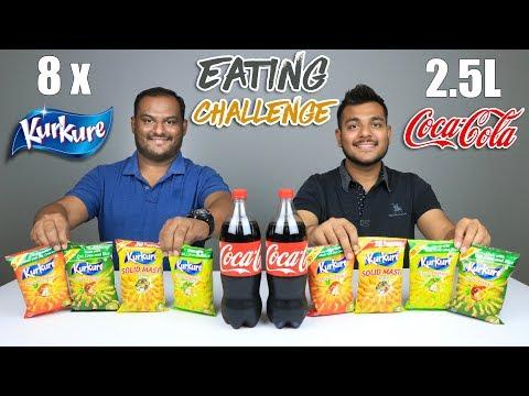 8 PACKS KURKURE & 2.5L COKE CHALLENGE | Food Eating Competition | Food Challenge
