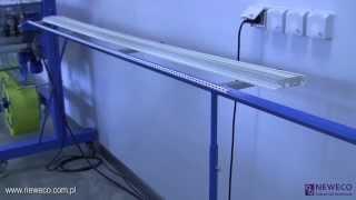 Станок для оклеивания стеклосеткой уголков, модель OK-12A(http://www.neweco.com.pl Оборудование предназначено для оклейки стеклосеткой угловых профилей (из ПВХ, алюминия,..., 2013-12-09T13:30:30.000Z)