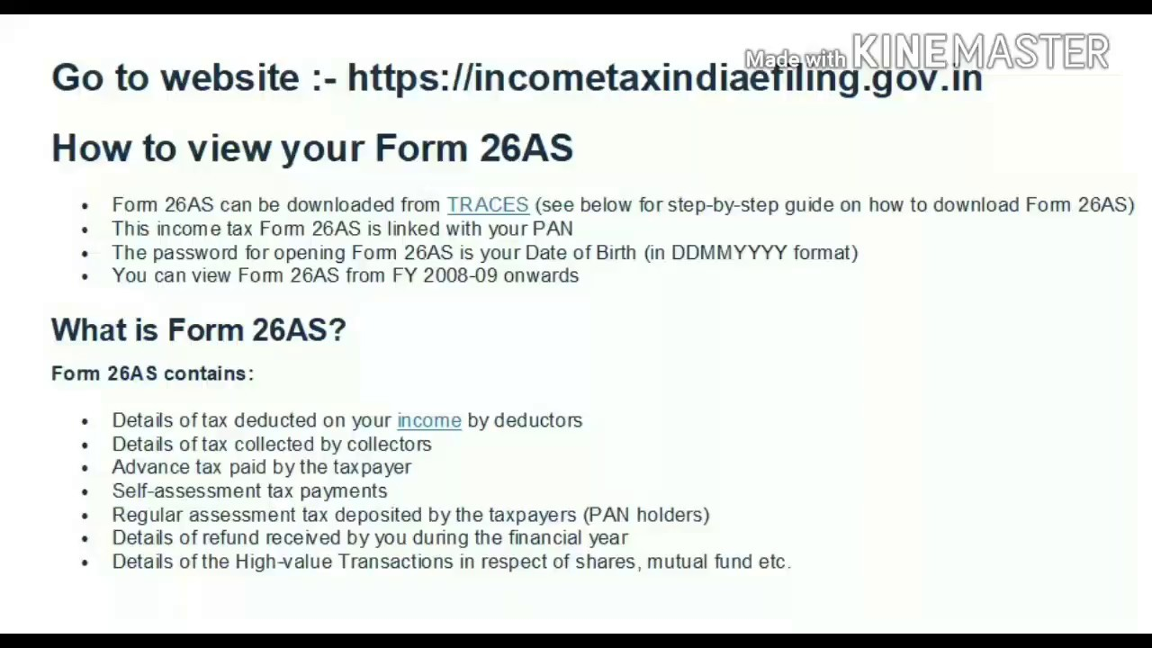 How to Download Form 26AS from Traces in Hindi    latest 2017  
