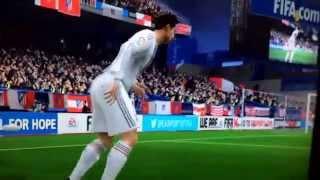 Coup franc FIFA 14. Cristiano Ronaldo