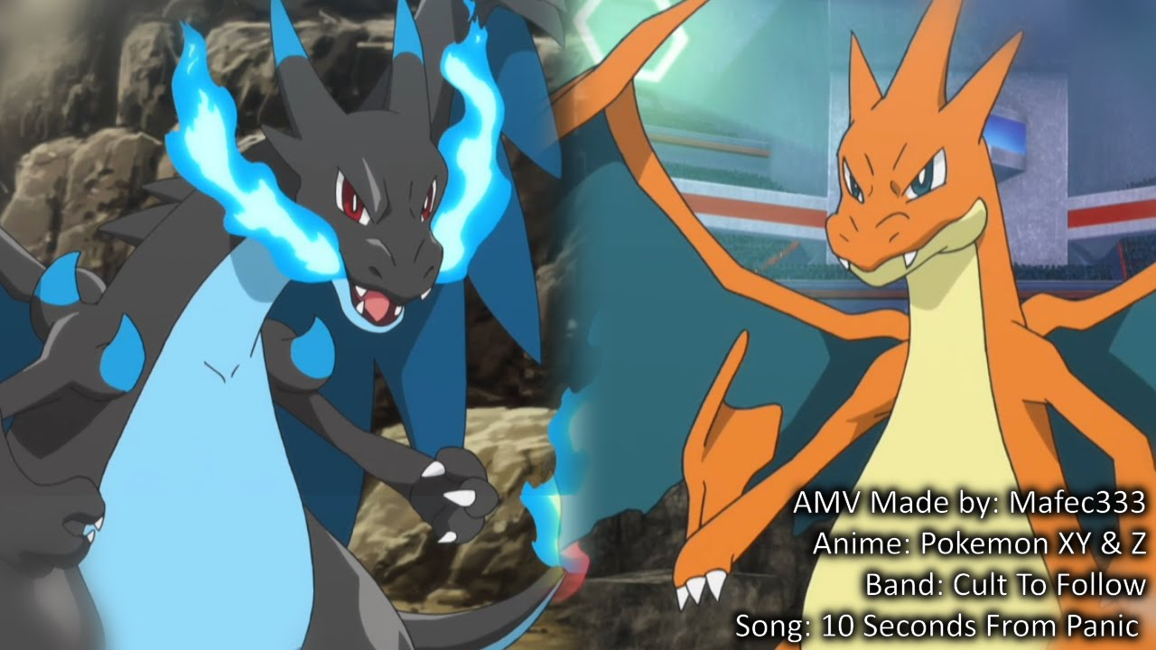 Mega Charizard X Vs Mega Charizard Y Anime Hd Amv Youtube