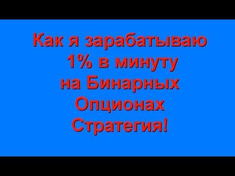 Как Вам заработать 1% в минуту на Бинарных Опционах-Стратегия на 5-ти тиковых контрактах!