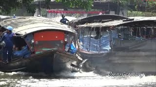 Bangkok River Taxi Boats of Khlong Saen Saep Express