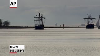 Columbus ship replicas arrive in Mississippi