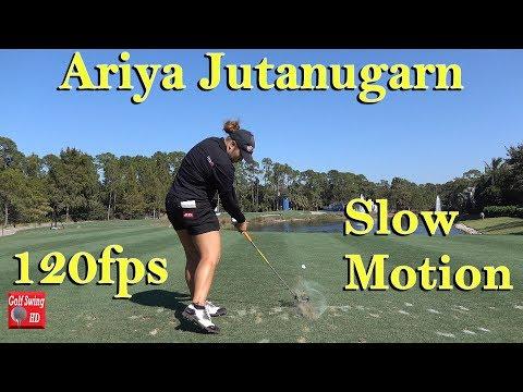 ARIYA JUTANUGARN 120fps SHORT IRON SLOW MOTION GOLF SWING