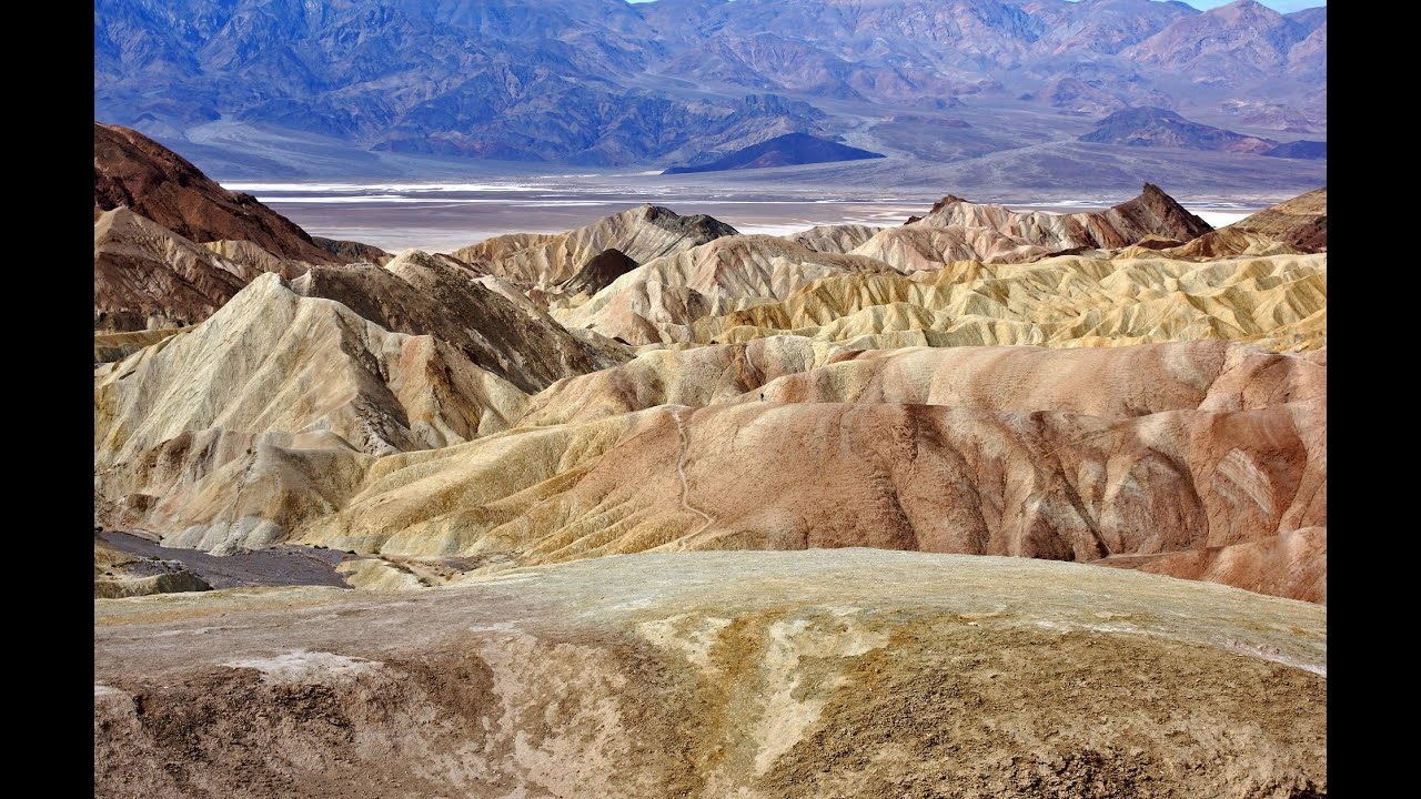Zabriskie Point, Death Valley National Park, Mojave Desert ...