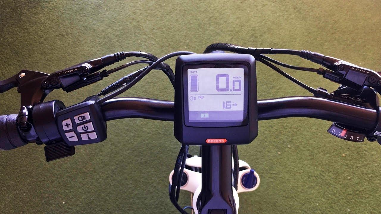 Bafang DP C07 UART Electric Bike Display Settings