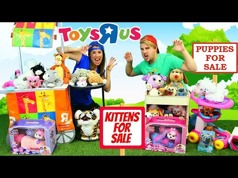 NEW - TOYS R US Fake Store Prank NEIGHBORS Puppies vs Kittens Puppy & Cats For Sale Animal ATTACK