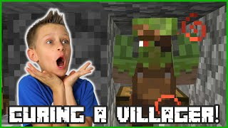 I CURED A ZOMBIE VILLAGER IN MINECRAFT!