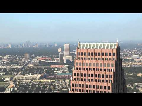 HOUSTON TEXAS Uptown Galleria Skyline From Downtown 2014