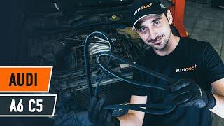 Hvordan bytte Bremsebelegg AUDI A6 Avant (4B5, C5) - online gratis video
