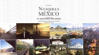 Conferencia: Nombres de México