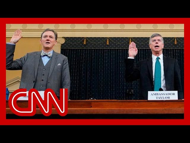 The big moments in the first public impeachment hearing
