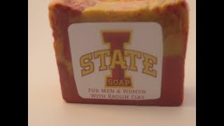 Making Hot Process Crockpot Iowa State Cyclones soap