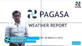 Public Weather Forecast Issued at 4:00 PM March 25, 2018