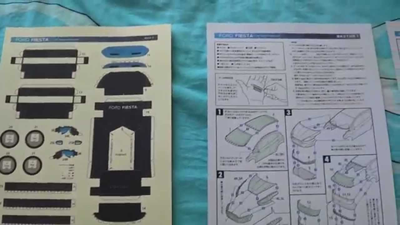 Papercraft Ford Fiesta Sport Hatchback Amp Instruction Youtube