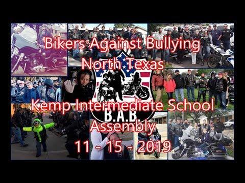 Bikers Against Bullying - Kemp Intermediate School Assembly