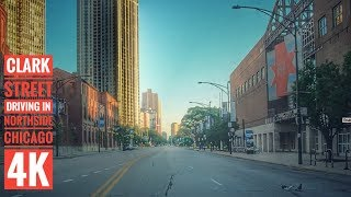Clark Street Driving in Northside Chicago 4K Streets of the Americas