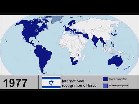 International recognition of Israel: Every year