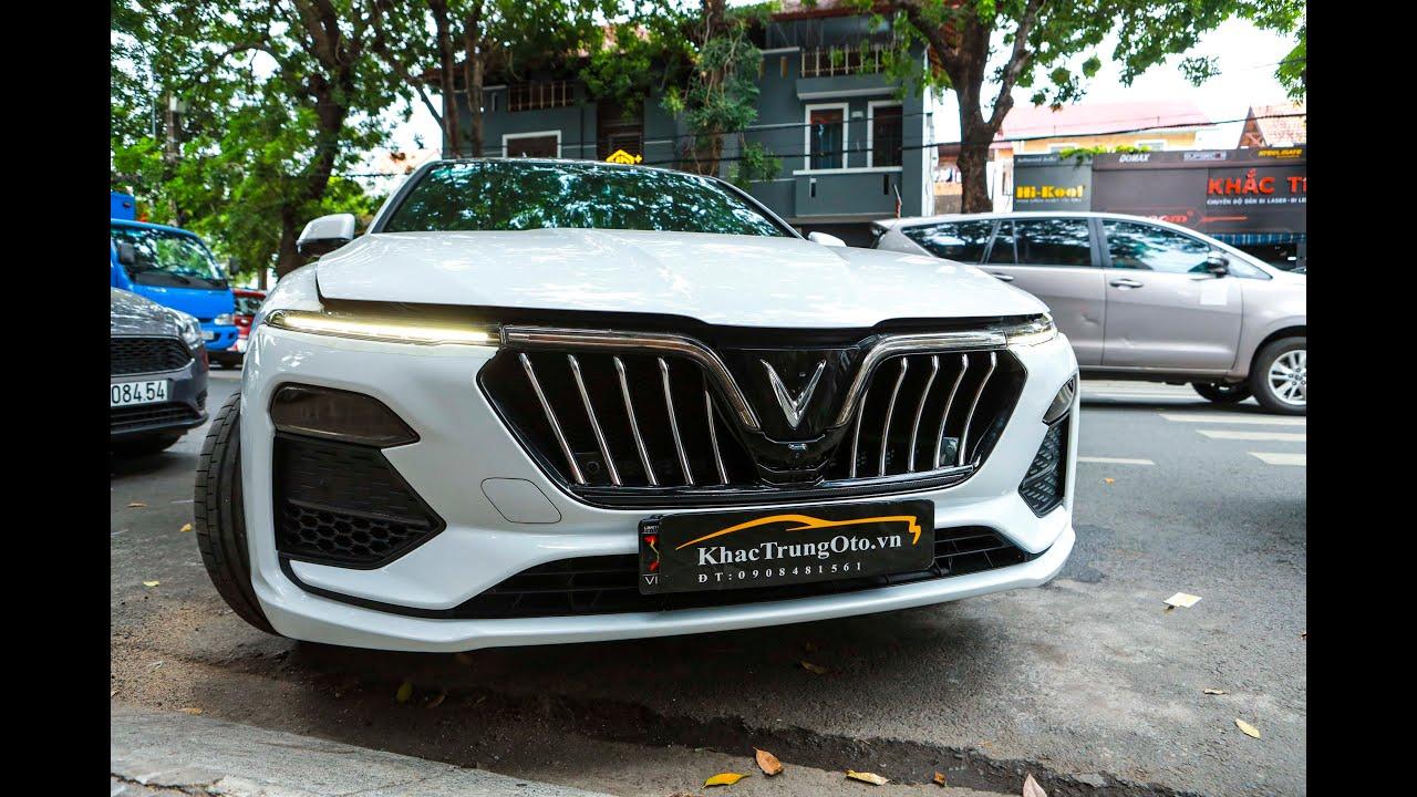 NÂNG CẤP ĐỒ CHƠI   VINFAST LUX A 2.0 độ mặt ca lăng mẫu Maserati lạ mắt tại Khắc Trung Ô TÔ - Kiến thức về phụ tùng xe hơi và xe