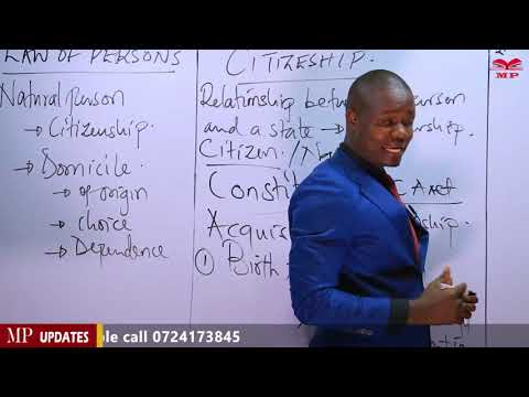 CPA - BUSINESS LAW - LAW OF PERSONS - LESSON 2