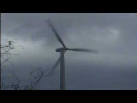 Danish Windturbine colapses in storm