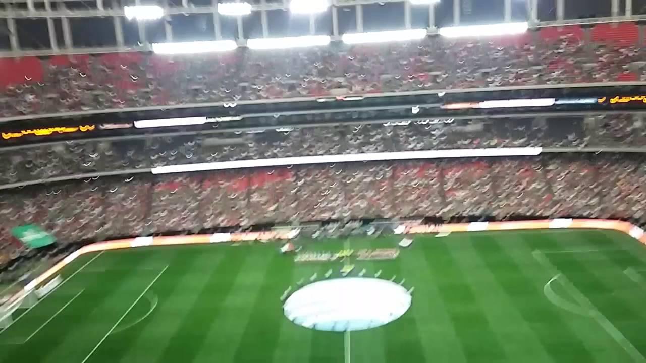 Mexico vs paraguay ya listos para jugar en el dome y himno nacional de Mexico  y Paraguay 11b7441967de1