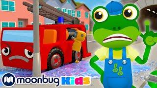 5 Little Fire Trucks | Gecko's Garage Songs | Children's Music | Vehicles For Kids!