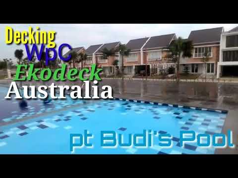 Jasa pembuatan Pool Deck WpC Import | Deck Kolam Renang WpC | Berkualitas ~ pt Budi's Pool Expert |