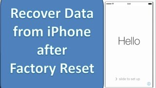 How to recover data from iPhone after restoring to factory settings