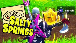 """Follow the treasure map found in Salty Springs"" Location Fortnite Week 3 Challenges!"